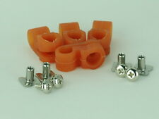 """Orange"" Old Face Mask Clips Suspension Football Helmet RK TK Riddell Schutt"