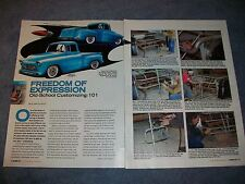 How to Article on Building a Custom Rearend for a 1955 Chevy Truck Old-School
