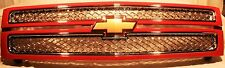 22829398 LTZ Split Grille Victory Red with Chrome Mesh for 07-13 Silverado by GM