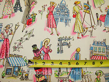 Springtime in Paris Ladies Shop Cafe Rouge YARDS Michael Miller Cotton Fabric