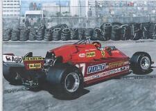 Gilles Villeneuve, 1981 art print