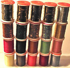 FLY TYING TINSEL & THREAD SELECTION. 20 MIXED.  Good gift item.