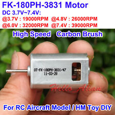 OT-FK-180PH-3831 DC3.7V 4.2V 6V 7.4V 39000RPM High Speed Mini Carbon Brush Motor