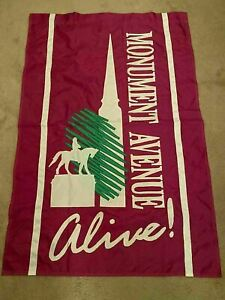 K) Vintage Historical Monument Avenue Richmond Banner Confederate Robert E Lee