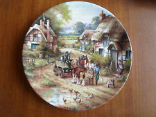 "Wedgwood Plate ""Early Morning Milk"" By Chris Howells ""Country Days"" 1991"
