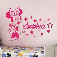 Wall Sticker Custom Baby Name Minnie Mouse Vinyl Decor Kids Nursery Room Decal