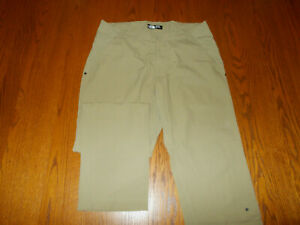 NEW THE NORTH FACE TAN ACTIVEWEAR NYLON FLY FRONT PANTS MENS 34 WAIST