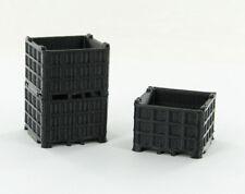 1/50 Plastic Bin Pallet - Black 3 Pack