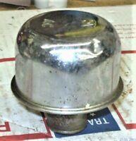 65-72 396,427 gm original AC oil push in breather cap chrome valve covers