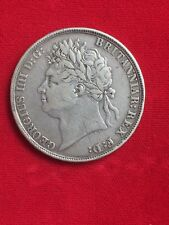 1821 GREAT BRITAIN SILVER CROWN KING GEORGE IV (IIII)  SECUNDO ON THE EDGE.