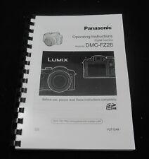 Panasonic Lumix DMC FZ28 instrucciones guía manual del usuario impreso de 152 páginas A5