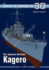 WW2 Japanese Destroyer Kagero Super Drawings 3D 16024 Reference Book