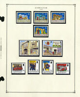Gibraltar Stamp Collection Complete Mint Sets 1990 to 1997