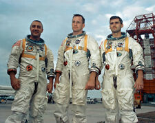 1967 Astronaut GUS GRISSOM, ED WHITE & ROGER CHAFFEE Glossy 8x10 Photo Apollo 1