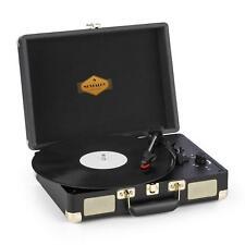 Giradischi Vintage Bluetooth Valigetta Lettore LP Stereo 33 45 USB Casse Nero