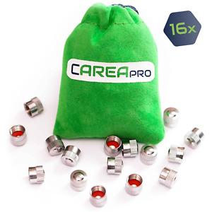 16X Ventilkappen Set aus Metall, rostfrei für PKW, Auto, Fahrrad von CAREApro