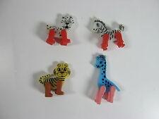 Vintage Fisher Price Circus Animals from 1963 Leopard Tiger Zebra Giraffee