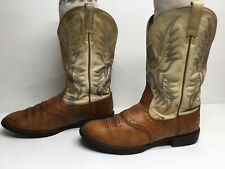 VTG WOMENS ARIAT ATS COWBOY BROWN BOOTS SIZE 8.5 B