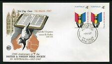 Australia 1967 Bible Society pair - Wcs Unaddressed Fdc