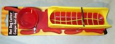 Hot Dog Cutter Kitchen Tool Child Safe Hotdog Wiener Slicer With Dipping Cup NEW