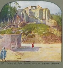 Ruins of Bely Castle, City of Algiers, Algieria, Antique Stereoview