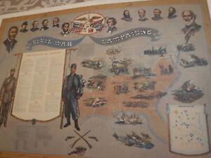 Campaigns of the Civil War Print