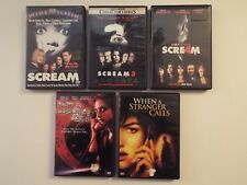 5 DVD-lot-Horror-Scream & 3 & 4-When a Stranger Calls-Carol Kane-Camilla Bell