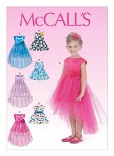 McCall's Sewing Pattern M7077 SZ 2-5 Children's Girls' Dress Hi-Lo Hem 6 Styles