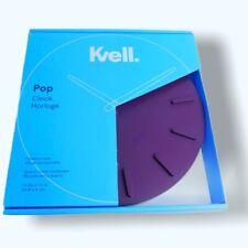 Kvell Pop Wall Clock Timeless Face Quartz Clock Movement Passionate Plum