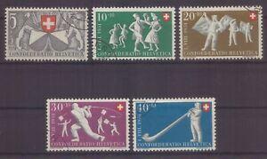 Schweiz 555-59 gestempelt