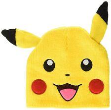 New BIOWORLD Pokemon Pikachu Knit Beanie Cap with Ears Ski Hat Winter
