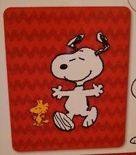 Peanuts - Snoopy and Woodstock Fleece Blanket 40 x 50 * Brand New *