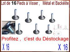 Lot de 16 Pieds Réglable à Visser pour Meuble,Gazinière,Frigidaire,Table,Chaise,