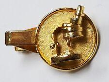Tie Clasp Bar Teacher Gift Vintage Gold Tone Scientists Jeweler Microscope