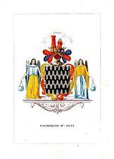 Araldica stemma araldico della famiglia Cacherani d'Asti