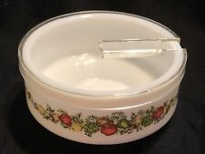 "Gemco Corning Ware Spice of Life Condiment Bowl with Lid, 4.5"" x 2.25"""