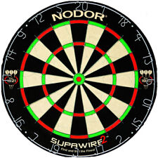 NODOR Competition Dart Board and A Set Of Darts Included Superwire 2