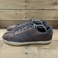 Adidas Neo Mens SE Daily Vulc Skateboarding Shoes Brown Lace Up Sz 11.5 U44882