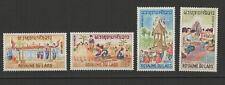 Royaume du Laos 4 timbres non oblitérés 1966 folklore /T2733