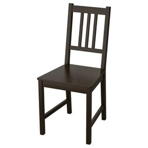 Brand New IKEA STEFAN Black Brown Solid Wood Dining Chair 002.110.88