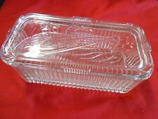 Great Collectible REFRIGERATOR Glass Storage BOX / CONTAINER with Lid