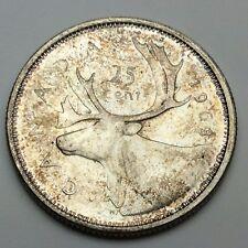1963 Canada 25 Twenty Five Cents Uncirculated Quarter Canadian Coin C659