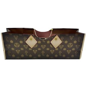 Wine Liquor True Gift Bag handbag 2 handle BottleGrapes LV Inspired