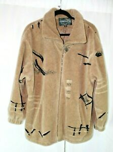 FORECASTERS MULTI-COLOR LINED ZIP FRONT LONG SLEEVE FLEECE JACKET SZ M #H420