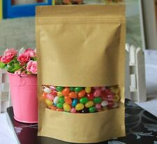 "30pcs Kraft Paper Candy Birthday Self Sealing Christmas Pouch Bag 9.45"" x6.3"""