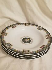Mary Engelbreit 4 Soup / Cereal Bowls - Love Home Family Friends - 2001 Enesco