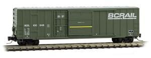 NIB Z MTL #51200032 50' Ribside Plug & Sliding Door Boxcar BCR #100348
