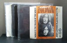 John Lennon / Yoko Ono: Lot of (7) 45 RPM Records - Excellent Used Condition