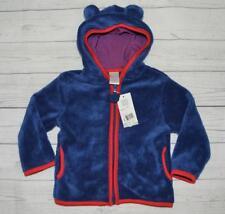 NEW Infant 18m QT BABY Soft Fleece Zip Up Hoodie Jacket Coat Bear Ears Blue Red