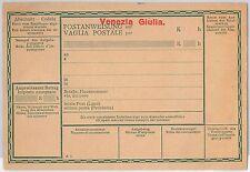 VENEZIA GIULIA  - Storia Postale: VAGLIA POSTALE AUSTRIACO con SOVRASTAMPA